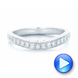 18k White Gold 18k White Gold Custom Diamond Wedding Band - Video -  102887 - Thumbnail