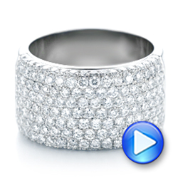 14k White Gold 14k White Gold Custom Pave Diamond Fashion Ring - Video -  102890 - Thumbnail