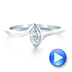 Custom Solitaire Marquise Diamond Engagement Ring - Interactive Video - 102906 - Thumbnail