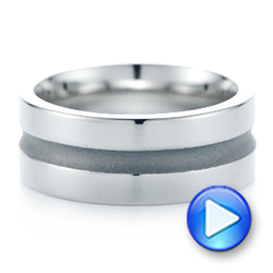 Custom Men's Wedding Band - Interactive Video - 102925 - Thumbnail