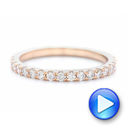 18k Rose Gold 18k Rose Gold Custom Diamond Wedding Band - Video -  102935 - Thumbnail