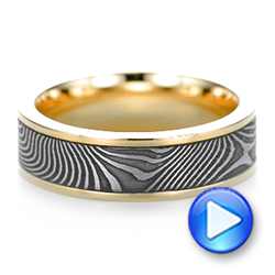 Damascus Steel Wedding Band - Video -  102940 - Thumbnail