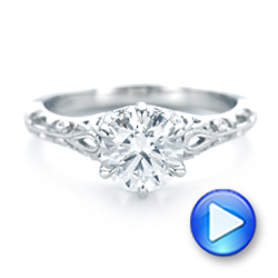 Custom Solitaire Diamond Engagement Ring - Interactive Video - 102952 - Thumbnail