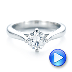 Custom Solitaire Diamond Engagement Ring - Interactive Video - 102954 - Thumbnail
