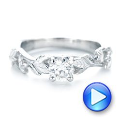Custom Solitaire Diamond Engagement Ring - Interactive Video - 102959 - Thumbnail