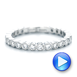 Platinum Custom Diamond Wedding Band - Video -  102962 - Thumbnail