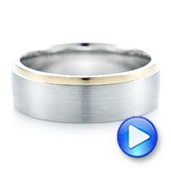 Custom Two-Tone Men's Wedding Band - Interactive Video - 102999 - Thumbnail