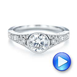 Vintage-inspired Diamond Engagement Ring - Interactive Video - 103049 - Thumbnail