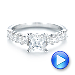 Princess Cut Diamond Engagement Ring - Interactive Video - 103082 - Thumbnail