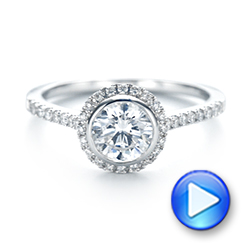 Halo Diamond Engagement Ring - Interactive Video - 103083 - Thumbnail