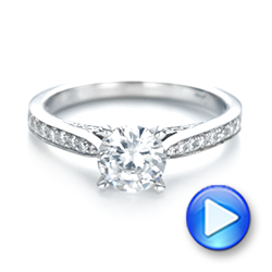 18k White Gold Diamond Engagement Ring - Video -  103086 - Thumbnail