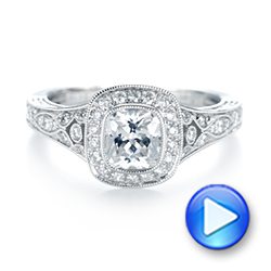 Halo Diamond Engagement Ring - Interactive Video - 103097 - Thumbnail