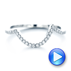 14k White Gold 14k White Gold Custom Diamond Wedding Band - Video -  103130 - Thumbnail