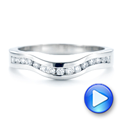 Platinum Custom Diamond Wedding Band - Video -  103136 - Thumbnail
