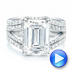 18k White Gold 18k White Gold Custom Diamond Engagement Ring - Video -  103138 - Thumbnail