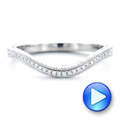 Platinum Platinum Custom Diamond Wedding Band - Video -  103145 - Thumbnail