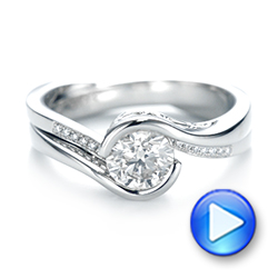 Platinum Custom Diamond Jacket Wedding Band - Video -  103203 - Thumbnail