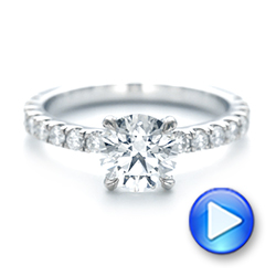 Custom Diamond Engagement Ring - Interactive Video - 103235 - Thumbnail