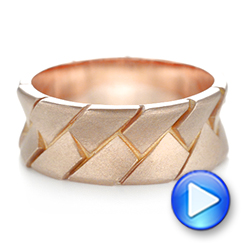 14k Rose Gold Custom Men's Band - Video -  103271 - Thumbnail