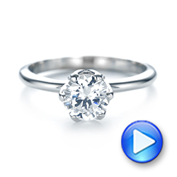 Solitaire Diamond Engagement Ring - Interactive Video - 103296 - Thumbnail