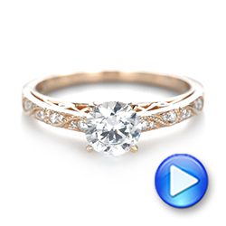 Vintage-inspired Diamond Engagement Ring - Interactive Video - 103298 - Thumbnail