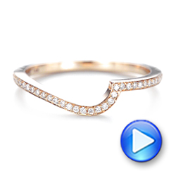 Custom Rose Gold Diamond Wedding Band - Interactive Video - 103302 - Thumbnail
