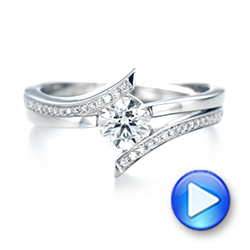Custom Tension Style Diamond Engagement Ring - Interactive Video - 103305 - Thumbnail