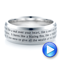 Custom Laser Inscribed Men's Band - Interactive Video - 103346 - Thumbnail