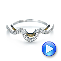 18k White Gold And 18K Gold Custom Two-tone Wedding Band - Video -  103382 - Thumbnail