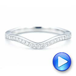Platinum Custom Diamond Wedding Band - Video -  103397 - Thumbnail