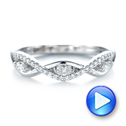 18k White Gold 18k White Gold Custom Diamond Wedding Band - Video -  103419 - Thumbnail