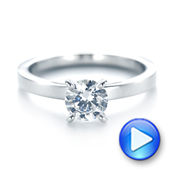 Solitaire Diamond Engagement Ring - Interactive Video - 103421 - Thumbnail