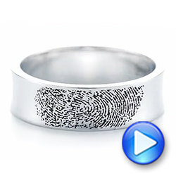 Custom Engraved Black Antiqued Men's Band - Interactive Video - 103425 - Thumbnail