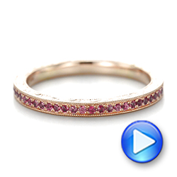 Pink Sapphire Wedding Band - Interactive Video - 103431 - Thumbnail