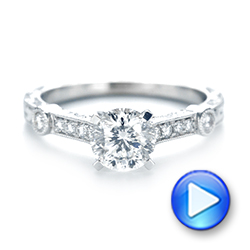 Vintage-inspired Diamond Engagement Ring - Interactive Video - 103433 - Thumbnail