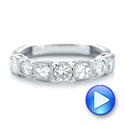 Platinum Custom Diamond Wedding Band - Video -  103437 - Thumbnail