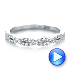 14k White Gold Custom Diamond Wedding Band - Video -  103438 - Thumbnail