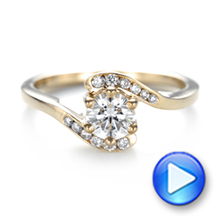Custom Interlocking Diamond Engagement Ring - Interactive Video - 103441 - Thumbnail