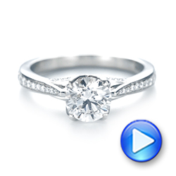 Custom Diamond Engagement Ring - Interactive Video - 103464 - Thumbnail