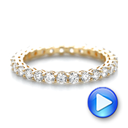 18k Yellow Gold Custom Diamond Eternity Band - Video -  103466 - Thumbnail