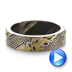 Custom Mokume Wedding Band - Video -  103470 - Thumbnail
