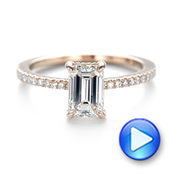 18k Rose Gold Custom Diamond Engagement Ring - Video -  103471 - Thumbnail