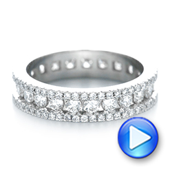 14k White Gold Custom Eternity Diamond Wedding Band - Video -  103479 - Thumbnail