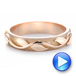 Custom Rose Gold Floral Wedding Band - Interactive Video - 103481 - Thumbnail