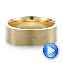 Custom Yellow Gold Square Men's Band - Interactive Video - 103497 - Thumbnail