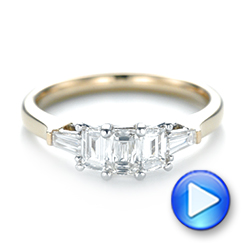 14k Yellow Gold And 14K Gold Custom Two-tone Diamond Engagement Ring - Video -  103505 - Thumbnail