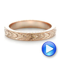 Hand-engraved Women's Wedding Band - Interactive Video - 103513 - Thumbnail