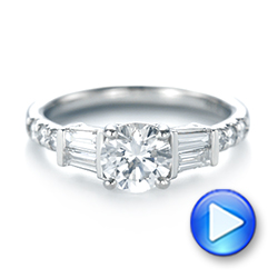 Platinum Custom Diamond Engagement Ring - Video -  103521 - Thumbnail
