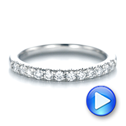 14k White Gold 14k White Gold Custom Diamond Wedding Band - Video -  103522 - Thumbnail