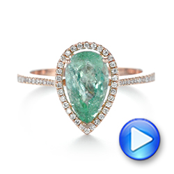 Custom Rose Gold Tourmaline and Diamond Engagement Ring - Interactive Video - 103523 - Thumbnail